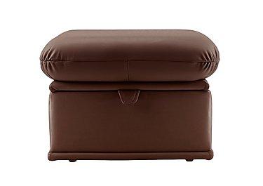 Malvern Leather Storage Footstool in N831 Dallas Chocolate on Furniture Village