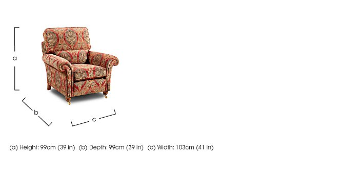 Mayfair Fabric Armchair in  on Furniture Village