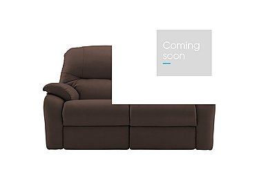 Mistral 2 Seater Leather Recliner Sofa in P200 Capri Chocolate on Furniture Village
