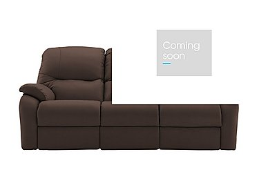 Mistral 3 Seater Leather Recliner Sofa in P200 Capri Chocolate on Furniture Village