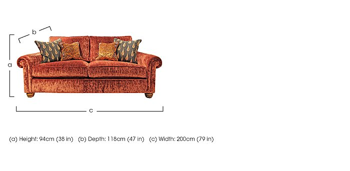 Monsoon 2.5 Seater Fabric Sofa in  on Furniture Village