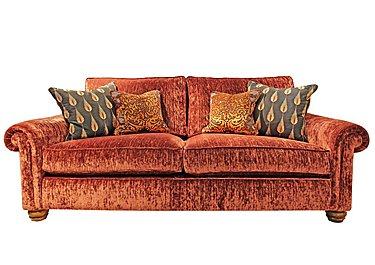 Monsoon 3 Seater Fabric Sofa in Hugo - Brick Red on Furniture Village