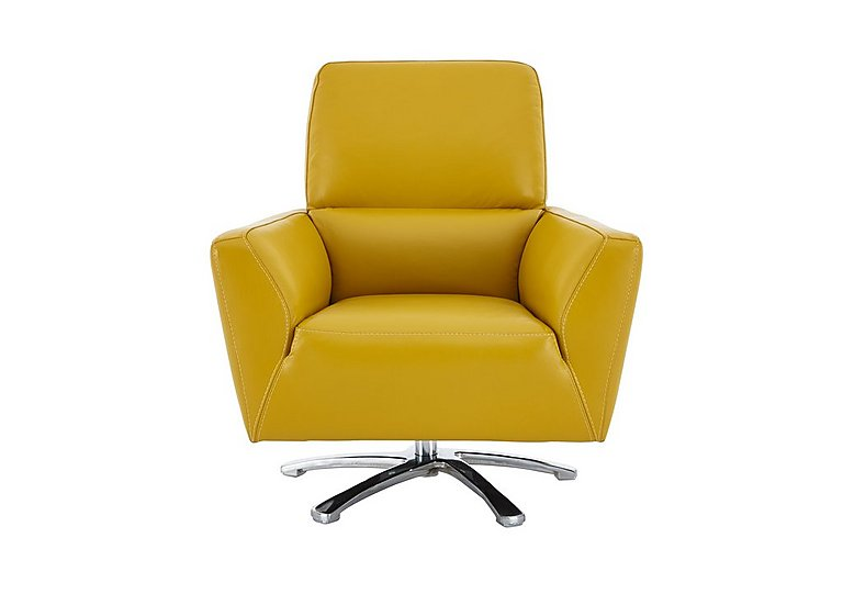 Charmant Mustang Leather Swivel Chair
