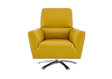Mustang Leather Swivel Chair in Nc-303e Sunflower on Furniture Village