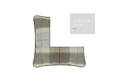 New England Medium Scatter Cushion in Blanket Plaid Sky on Furniture Village