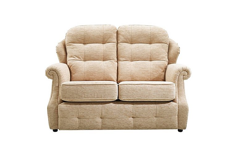 Oakland 2 Seater Small Fabric Sofa in A071 Boucle Oyster on Furniture Village
