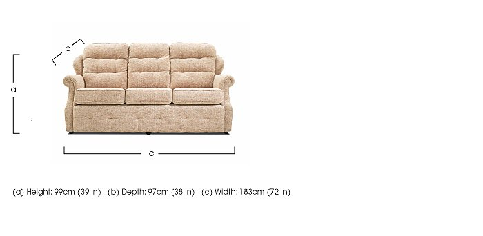 Oakland 3 Seater Small Sofa in  on Furniture Village