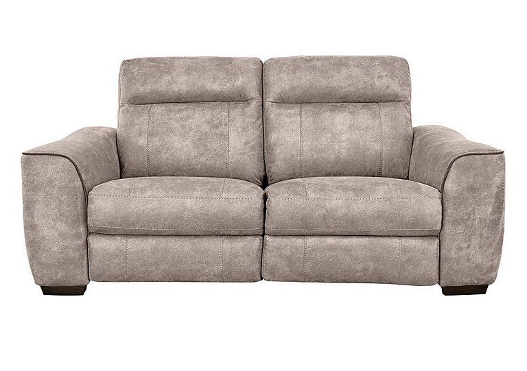 Paloma 3 Seater Fabric Recliner Sofa in Bfa-Blj-R946 Silver Grey on Furniture Village