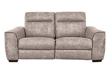 Paloma 3 Seater Fabric Recliner Sofa in Bfa-Blj-R946 Silver Grey on Furniture Village