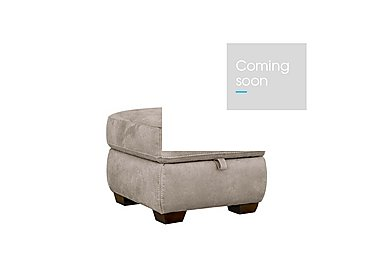 Paloma Fabric Storage Footstool in Bfa-Blj-R946 Silver Grey on Furniture Village