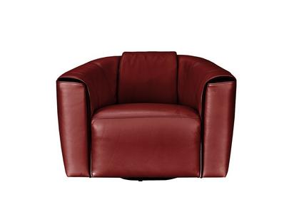 Perno Leather Accent Armchair Natuzzi Editions Furniture Village - Red-italian-leather-armchairs-from-natuzzi