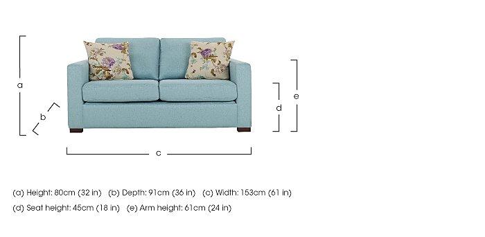 Petra 2 Seater Fabric Sofa in  on Furniture Village