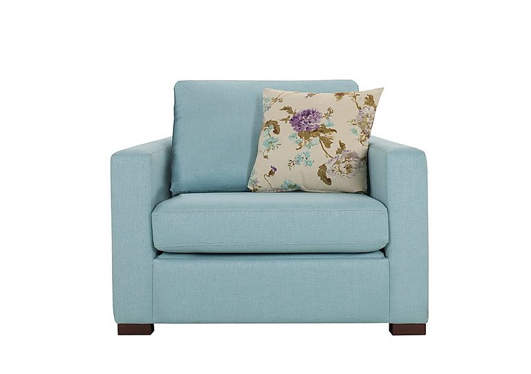 Petra Fabric Armchair in Marbella Turquiose 38 on Furniture Village