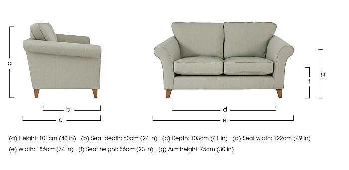 High Street Regent Street 2 Seater Fabric Sofa in  on Furniture Village