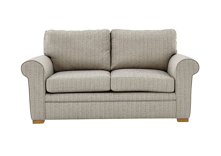 Reigate 2 Seater Fabric Sofa in A363 Beige Light Natural Feet on Furniture Village
