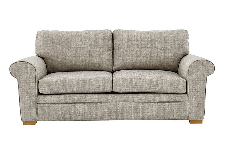 Reigate 3 Seater Fabric Sofa in A363 Beige Light Natural Feet on Furniture Village