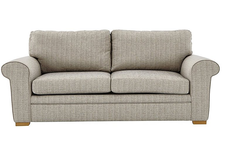 Reigate 4 Seater Fabric Sofa in A363 Beige Light Natural Feet on Furniture Village