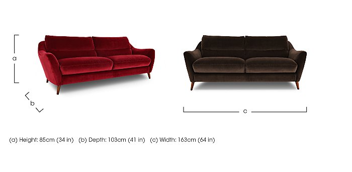 Remy 2 Seater Fabric Sofa in  on Furniture Village