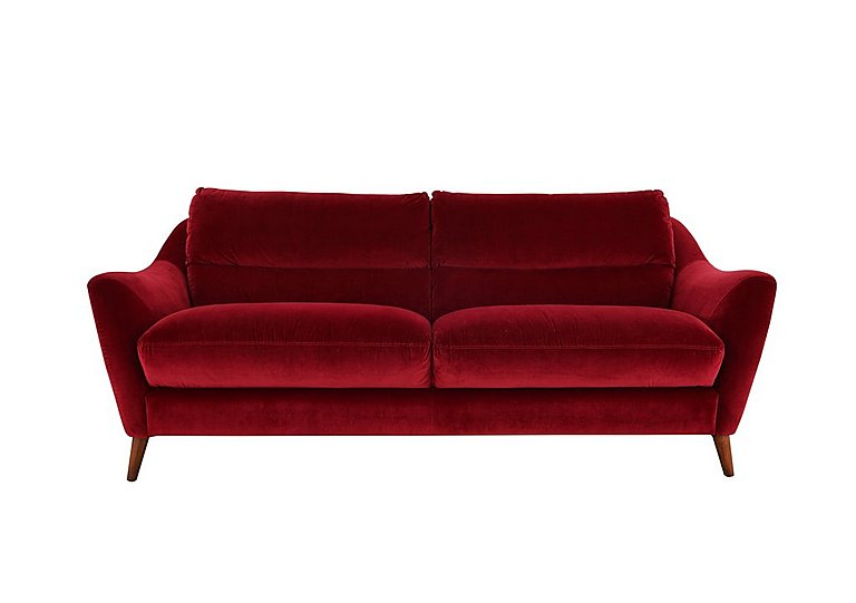Remy 2 Seater Fabric Sofa in Luxor Cranberry- 80371 on Furniture Village