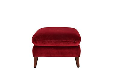 Remy Fabric Footstool in Luxor Cranberry- 80371 on Furniture Village