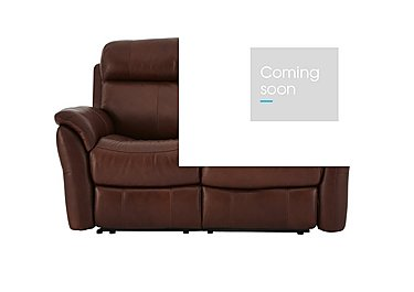 Relax Station Revive 2 Seater Leather Recliner Sofa in Sk-297e Cumin on Furniture Village