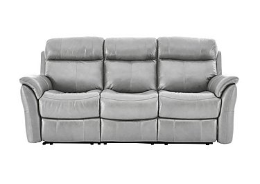 Relax Station Revive 3 Seater Leather Recliner Sofa in Nc-946b Feather Gray on Furniture Village