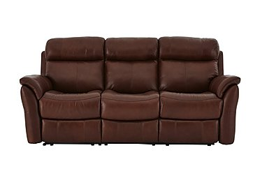 Relax Station Revive 3 Seater Leather Recliner Sofa in Sk-297e Cumin on Furniture Village