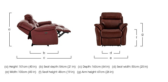 Relax Station Revive Leather Recliner Armchair in  on Furniture Village