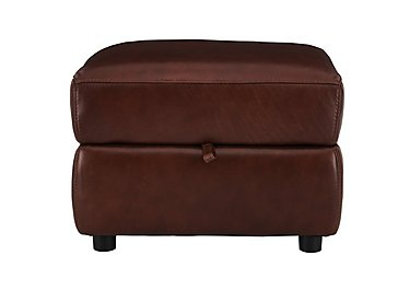 Relax Station Revive Leather Storage Footstool in Sk-297e Cumin on Furniture Village