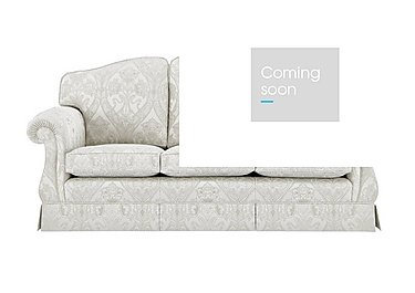 DG Sandringham 3 Seater Fabric Sofa in Pendragon Damask Oyster Dwalft on Furniture Village