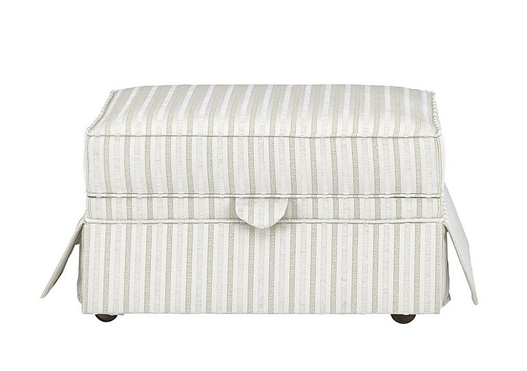 DG Sandringham Fabric Storage Footstool in Pendragon Stripe Oyser Dis Wal on Furniture Village