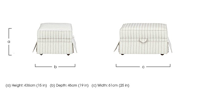 DG Sandringham Fabric Storage Footstool in  on Furniture Village