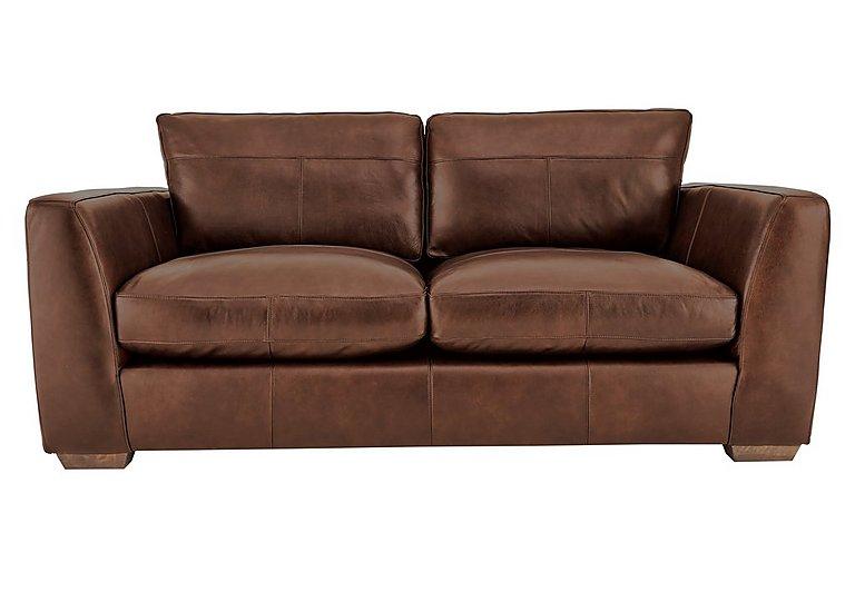 Savannah 2 Seater Leather Sofa in Byron Tumbleweed on Furniture Village