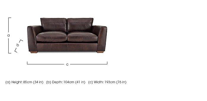 Savannah 2 Seater Leather Sofa in  on Furniture Village