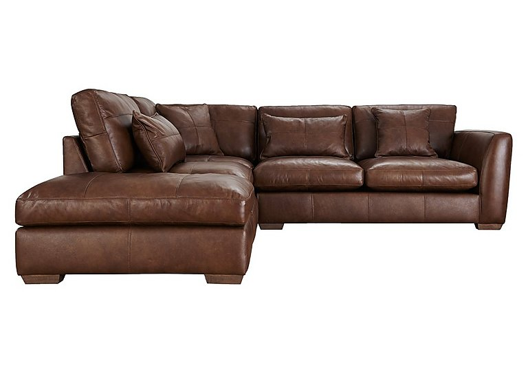 Savannah Leather Corner Sofa