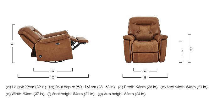 Seattle Leather Recliner Armchair in  on Furniture Village