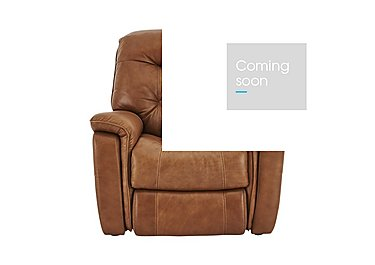 Seattle Leather Recliner Armchair in Sk-598d Caramel- on Furniture Village