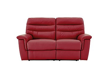 Relax Station Serenity 2 Seater Leather Recliner Sofa in Bv-0008 Pure Red on Furniture Village
