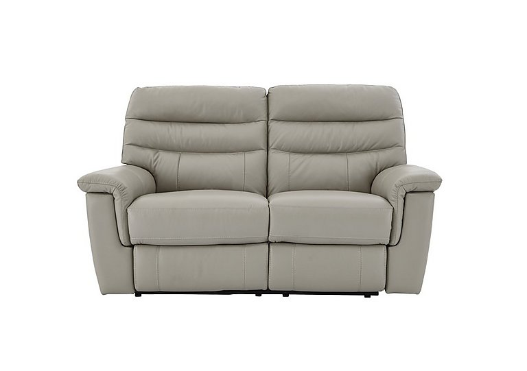Relax Station Serenity 2 Seater Leather Recliner Sofa in Bv-946b Silver Grey on Furniture Village