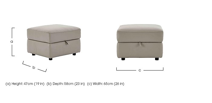 Relax Station Serenity Leather Storage Footstool in  on Furniture Village