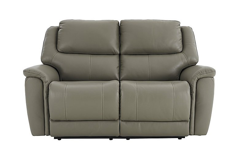 Sheridan 2 Seater Leather Recliner Sofa in 55/64 New Club Grey on Furniture Village