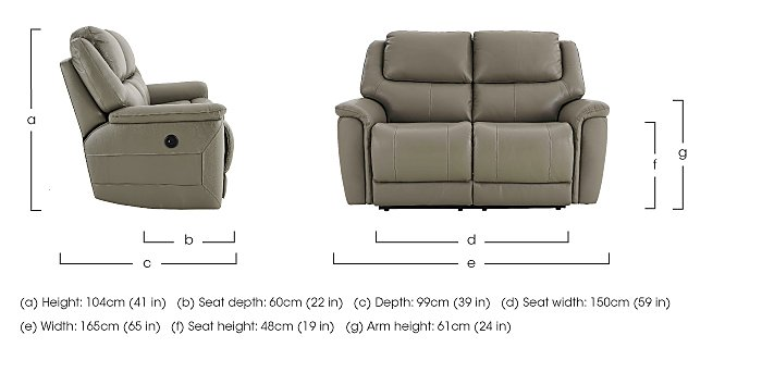 Sheridan 2 Seater Leather Recliner Sofa in  on Furniture Village