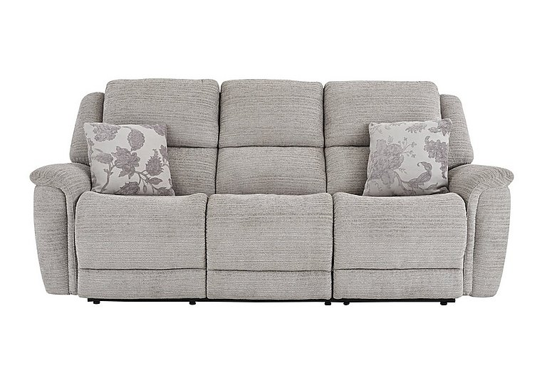 Sheridan 3 Seater Fabric Recliner Sofa in 5th Ave Plain Nickel 40526 on Furniture Village