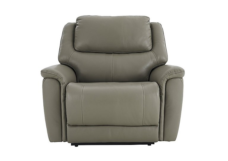 Sheridan Leather Recliner Armchair in 55/64 New Club Grey on Furniture Village