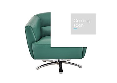 Spectrum Leather Armchair in Nc-314e Emerald on Furniture Village