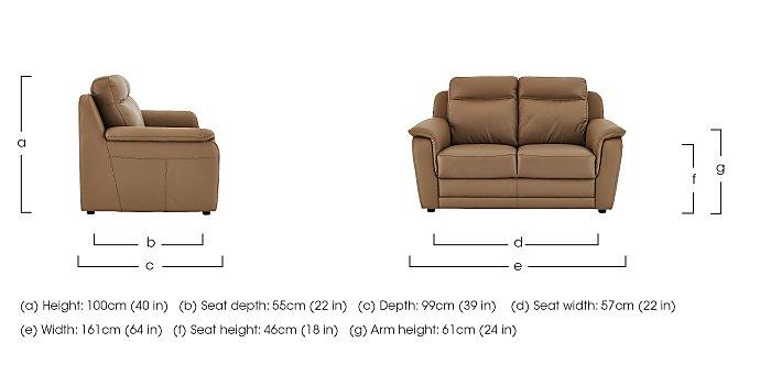 Tara 2 Seater Leather Recliner Sofa in  on Furniture Village