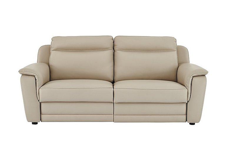Tara 3 Seater Leather Recliner Sofa in 352 Fango on Furniture Village
