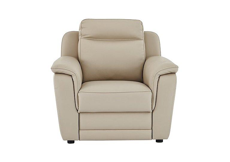 Tara Leather Recliner Armchair in 352 Fango on Furniture Village