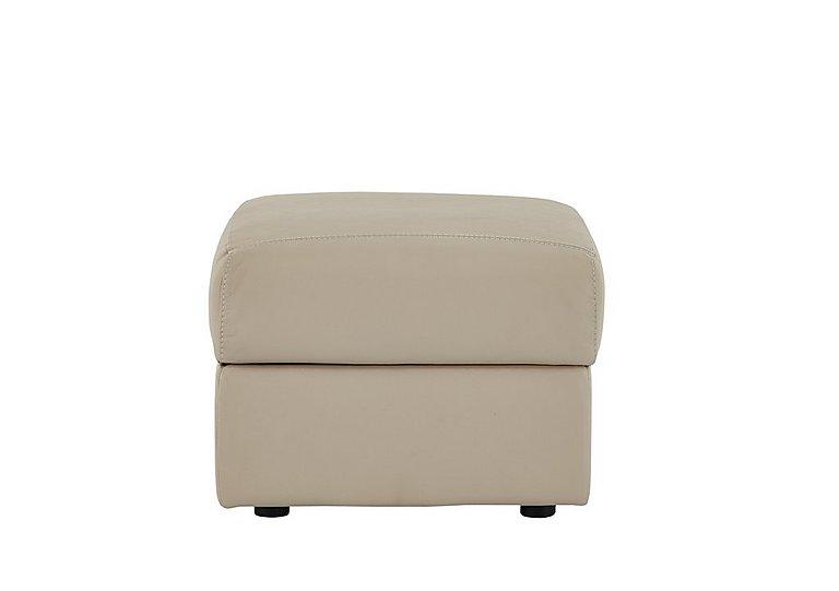 Tara Leather Footstool in 352 Fango on Furniture Village