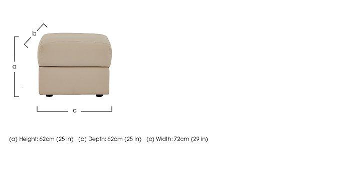 Tara Leather Footstool in  on Furniture Village